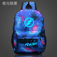 fashion Marvel Movie Captain America Avengers Flash Backpack Starry sky Luminous Backpack Fans Bags Teenager Backpacks 2018 M300