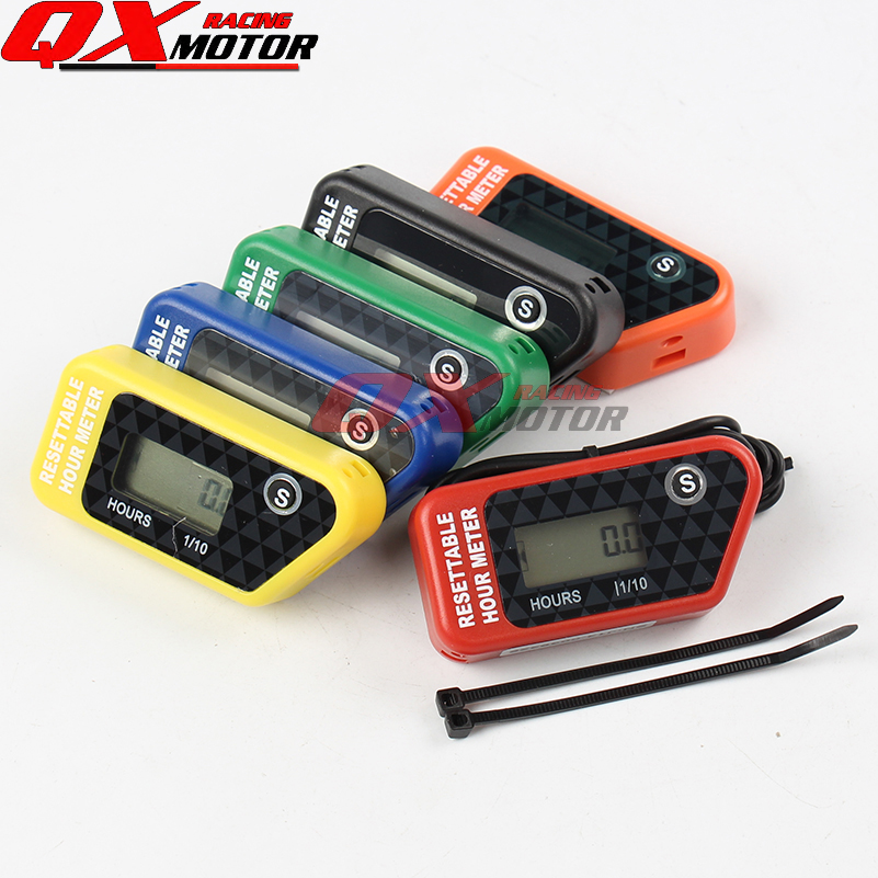 Motorcycle Accessories & Parts Water Proof Lcd Wireless Vibration Hour Meter Counter For Motocross Engine Boat Snowmobile Motorcycle Chainsaw Atv Jet Ski