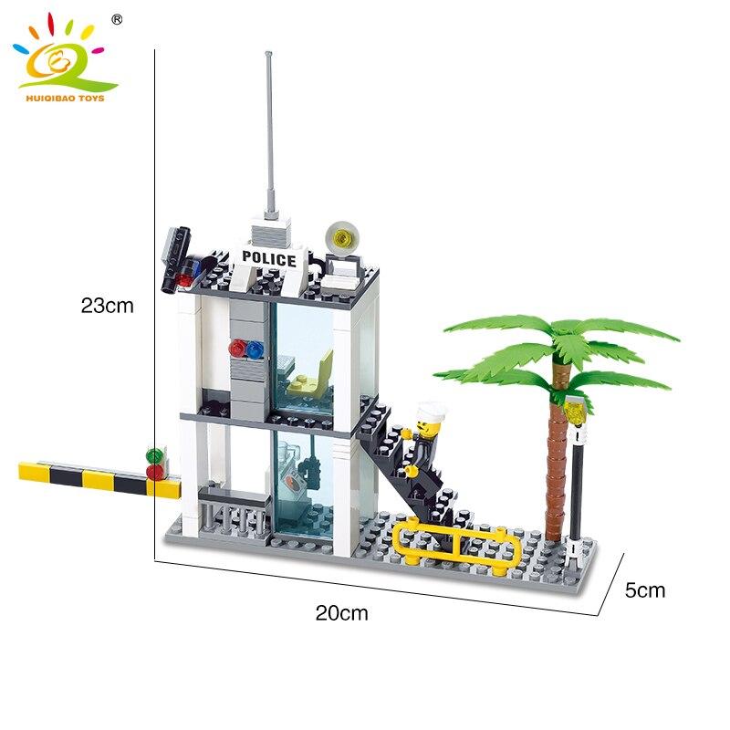 Huiqibao juguetes Policía Serie bloques de construcción compatible ...