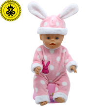 Baby Born Doll Accessories Big Ear Hat Jumpsuits Suit Clothes fit 43cm Baby Born Zapf Doll