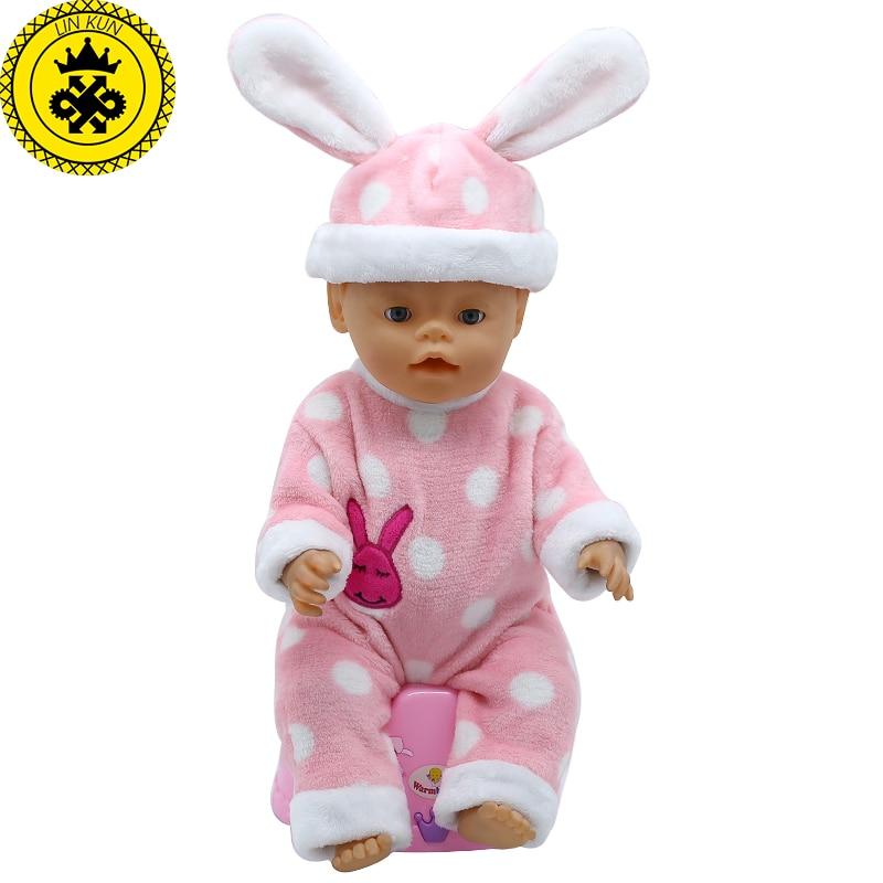 Baby Born font b Doll b font font b Accessories b font Big Ear Hat Jumpsuits