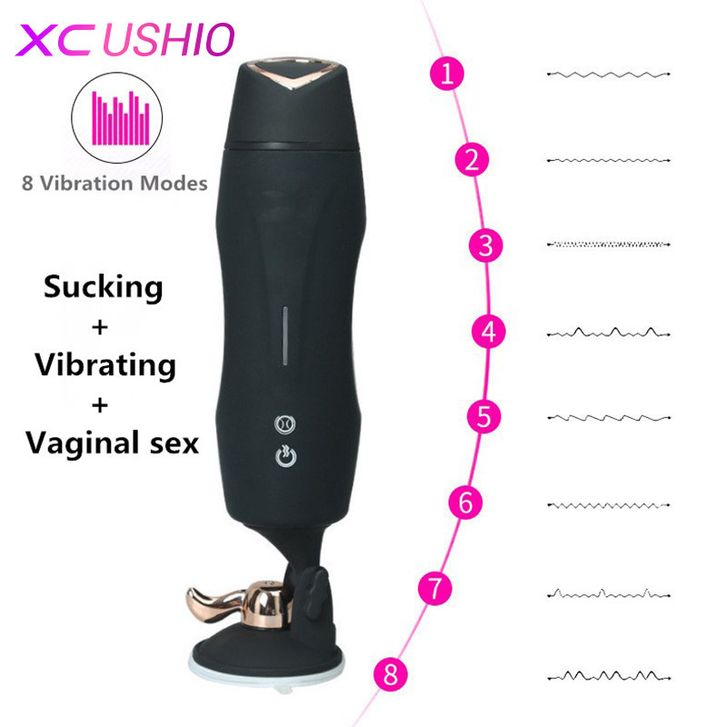 Electric Male Masturbator Cup Automatic Telescopic Sex Machine Hands Freely Vagina Sex Vibrator Sex Toys for