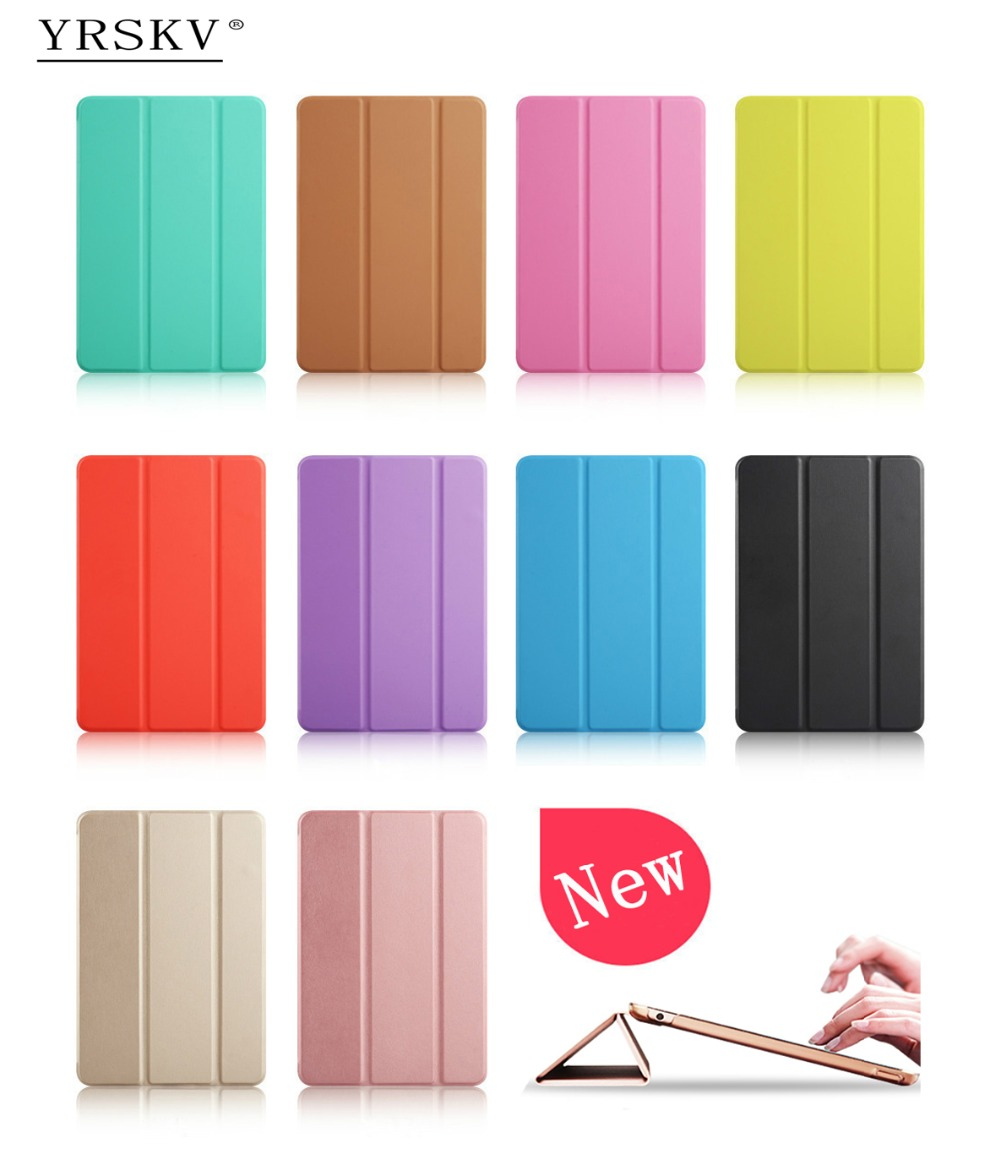 YRSKV New Yippee Color PU Leather Slim Magnetic Front Smart Cover Skin+Hard PC Back Tablet Case for iPad 9.7 inch (2017)-(2018)