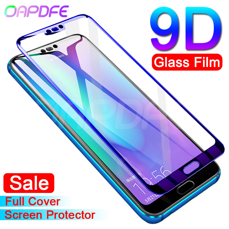9D Protective Glass On The For Huawei Honor 10 Lite V10 V20 Honor 9 8 Lite V9 Play Tempered Screen Protector Glass Film Case