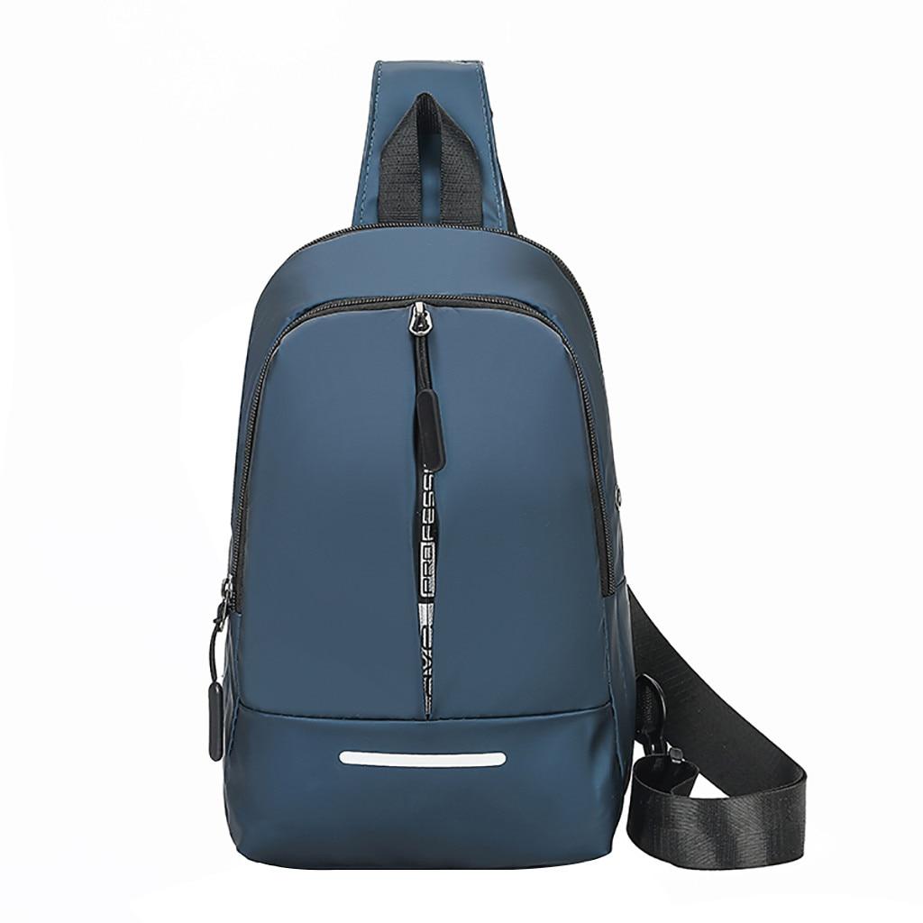 Men Waist Bag Wild Messenger Bag Fashion One Shoulder Plaid Chest Bag High Quality Casual Fanny Pack High Quality  E