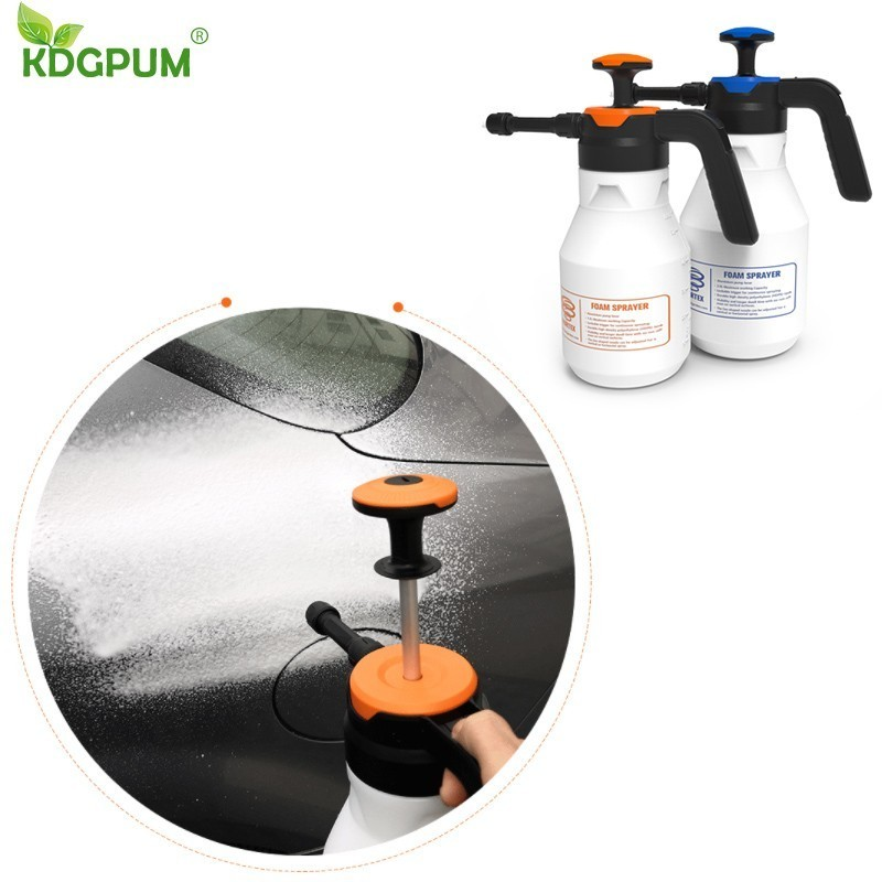Image 2 - 2L Foam Sprayer Pressure Pump Car Wash Watering Can Foam Nozzle For Home Window Cleaning ToolsSprayers