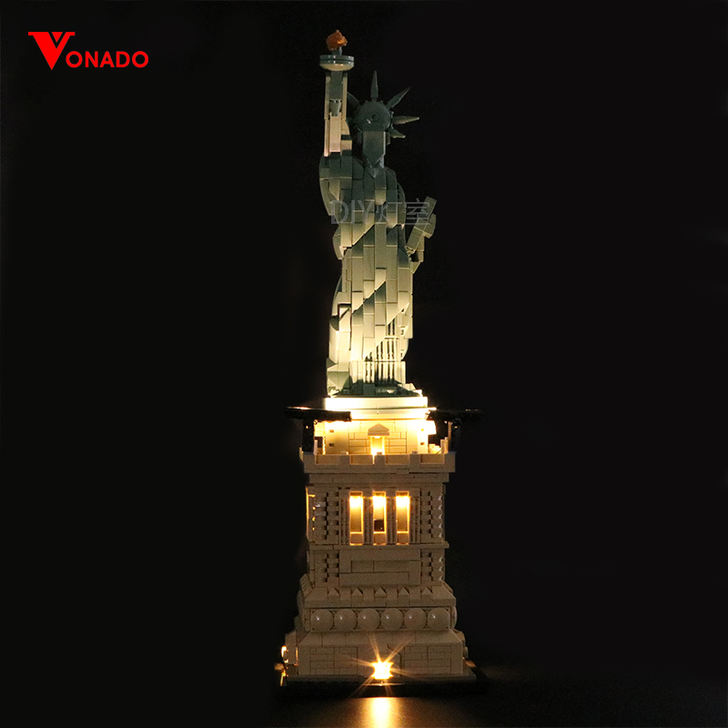 Led Light Set For Lego 21042 Compatible 17011 Statue of Liberty Building Block Toys for Children