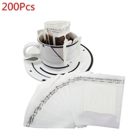 200 Pcs Coffee filter bag Portable Home Office Travel DIY Drip Coffee Filter Bag Hanging Ear Style Filters Paper Brew