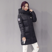 Winter Women's Fashion Down Warm Coats 2016 New Arrival Fashion Long sleeve Hooded Jackets Slim Style Casual Parka Coat 3XL