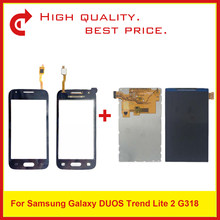 "4.0"" For Samsung Galaxy DUOS Trend Lite 2 G318 G318H LCD Display With Touch Screen Digitizer Sensor Panel G318 318 LCD Display(China)"