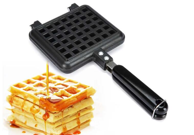 1PC Household Waffle Bake Mold Kitchen Gas Non-Stick Maker Pan Mould Press Plate Iron Baking Tools OK 0985