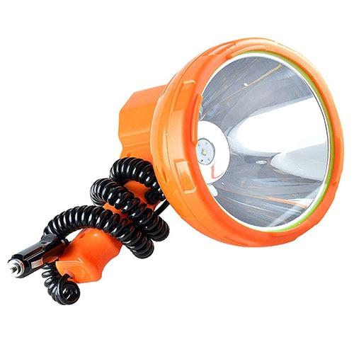 Lampe de pêche 12 v 1000 m, lumière LED monté sur véhicule 50 W projecteur LED, projecteur portable Super lumineux pour camping, voiture, chasse