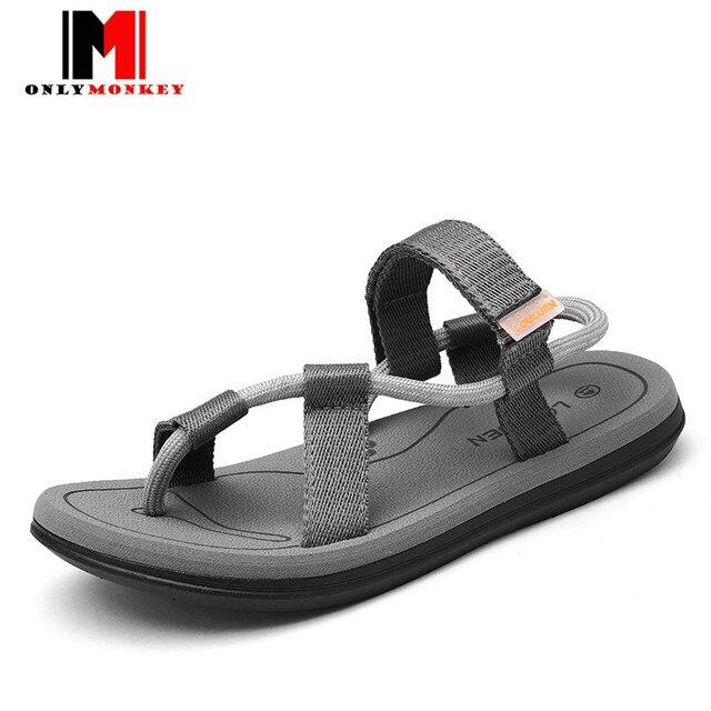 d2bcb9d216f3ce ONLYMONKEY 36-45 Summer High Quality Men Flip Flops New Design Simple  Sandals Male Slippers Beach Shoes Men Soft Casual Shoes