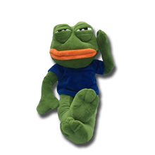 42cm Green Sad Frogs Plush Animal Soft Doll for Children Birthday Gift Stuffed Frog Gift Home Deco стоимость