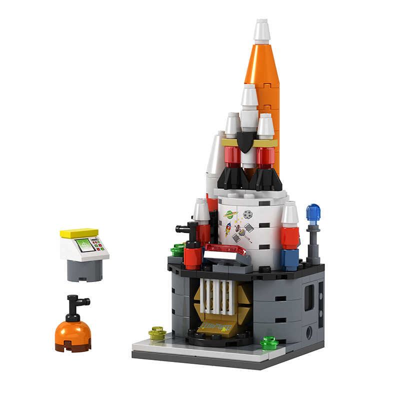 3D розничные магазины мини город уличное кафе еда мороженое пиццы яблочный магазин мультфильм MOC развивающие строительные блоки Legoingly игрушки