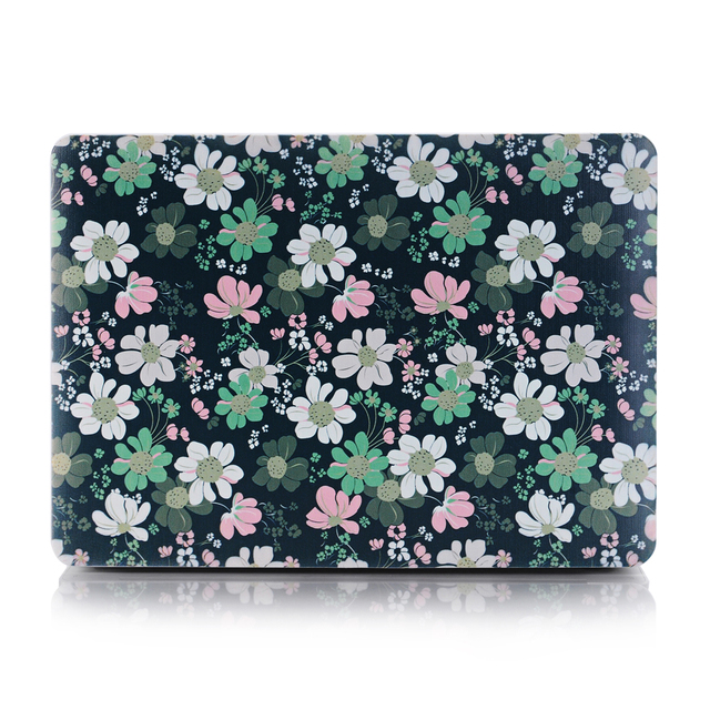 Art Image Series Ultra Slim Light Weight Rubberized Hard Case Glossy Clear Crystal Snap-On Hard Cover Case for MacBook (Flower)