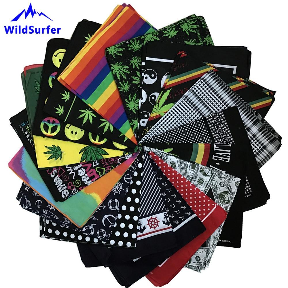 WildSurfer Beautiful Hiphop Cotton Bandanas Face Mask Scarf Headwear Women Snood Headband Men Fishing Mask Hiking Balaclava FJ12