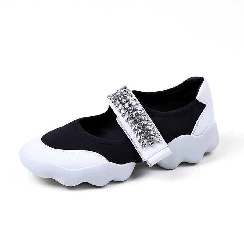Zapatos de Las Mujeres de Moda de verano de la Plataforma Poco Profunda Crystal