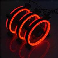 Flying-Слон комплект из 3 предметов в комплекте с 50 см DC12V LED 7 Цвет светло ремень Низкий уровень шума 120*120*25 диафрагма компьютерные вентиляторы о...