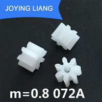 072A 0.8M Pinions Modulus 0.8 7 tooth Plastic Gear Motor Parts Toy Accessories Factory Wholesale 5000pcs/bag