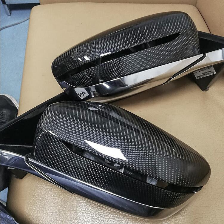 Carbon Fiber Rear View Mirror Cover 1 1 Replacement style For BMW 5 6 7Series G30