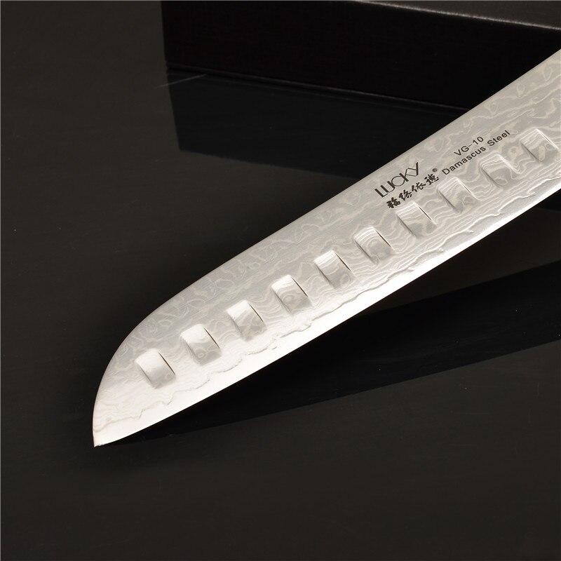 7-inčni kuhinjski nož Santoku Chef Japanski nož VG10 Damask Čelik - Kuhinja, blagovaonica i bar - Foto 4