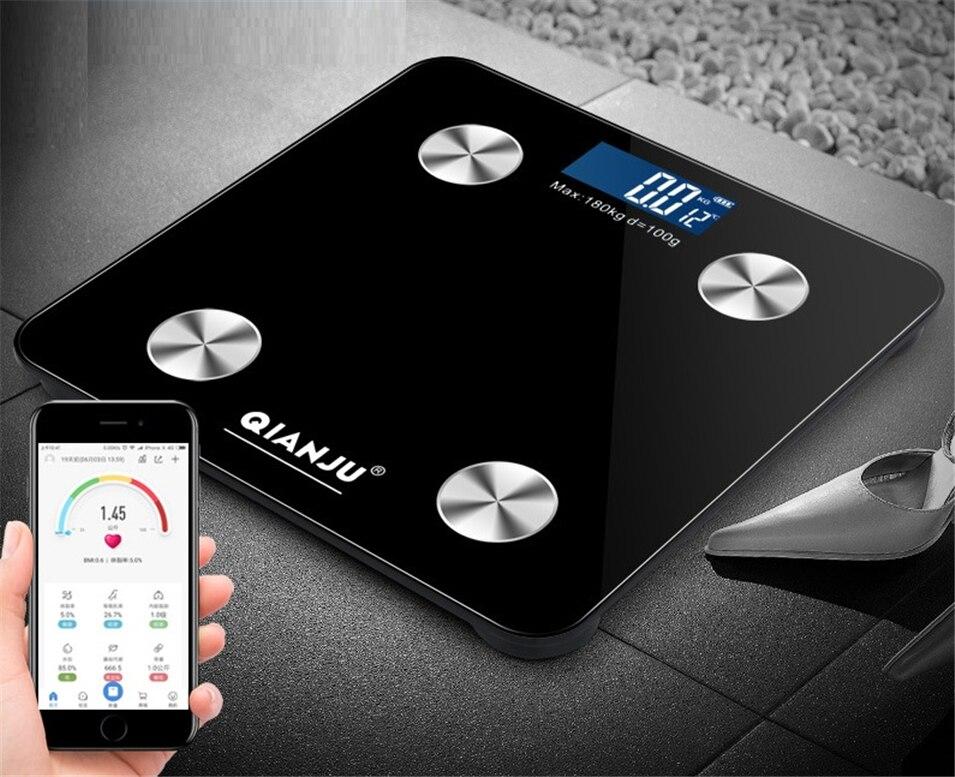 Bilancia Piano Scientifica Smart LED Elettronico Digitale del Peso di Grasso corporeo Bagno Equilibrio Bluetooth APP Android o IOS PK GASON