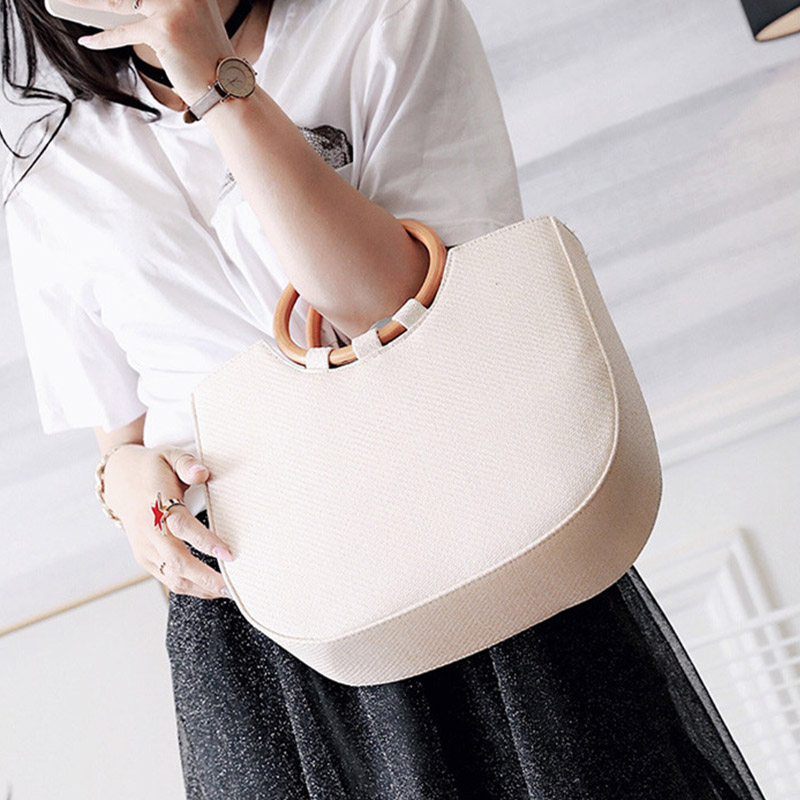 Casual beach bag top-handle straw bags for women large capacity totes for daily shopping handbags designer shoulder bag