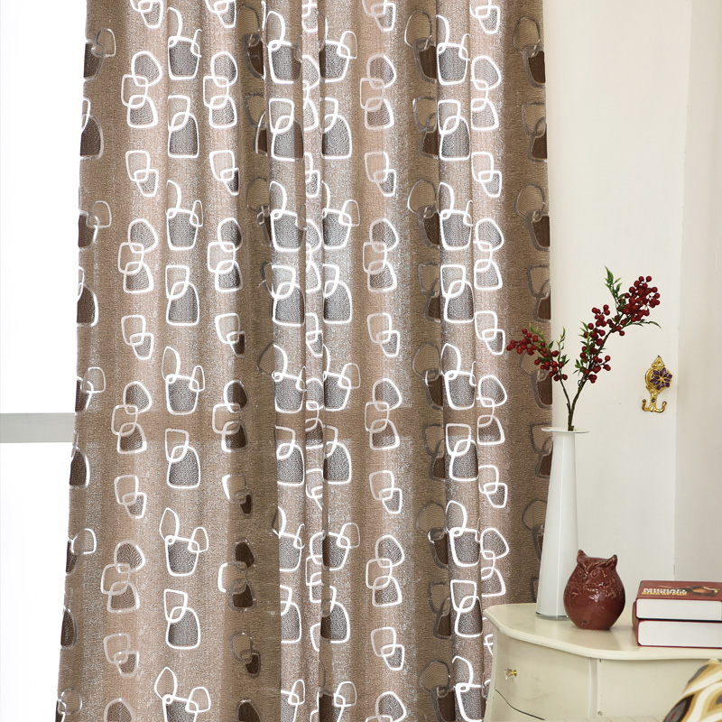 free shipping curtain treatments green curtain modern brand kitchen design fabric ready window new geometric made room curtains