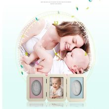 UBRUSH Photo Frame PVC Four Color pink, orange , green, blue For Baby Handprints And Footprints 2Boxes 30*9.5 cm Photo Frame()