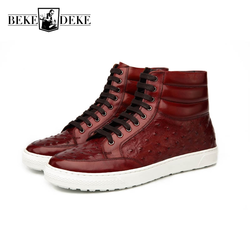 Punk Style Blue Winter New Fashion Mens Lace Up Plat Cow Genuine Leather Breathable Round Toe Male Casual Shoes High Help zapatos hombre sapato masculino couro new fashion high quality brand lace up genuine leather mens casual shoes multi color blue