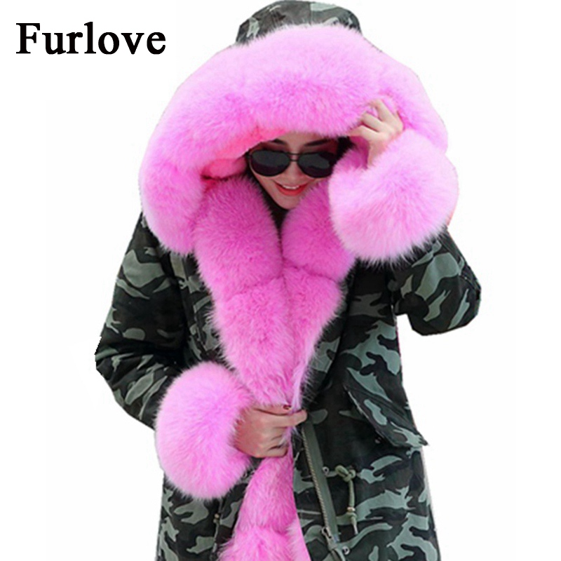 Women Winter Jacket Womens Coat Thick Warm Jackets Real Fox Fur Collar Coats Hooded Parka Army Green Parkas DHL free shipping 2017 women jackets and coats solid slim large fur collar hooded short parkas thick jacket winter women warm coat overcoat sy003