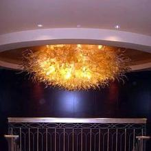 Hot Sale Special Design Glass High Ceiling Light Villa Art Lighting Chandelier
