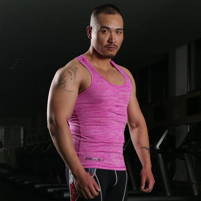 Gymshark Tanque Tops Hombres Autónomo Undershirt Singlete Deporte Ejercicio Físico Culturismo Apretado Chaleco Sin Mangas de La Camiseta M-XXL