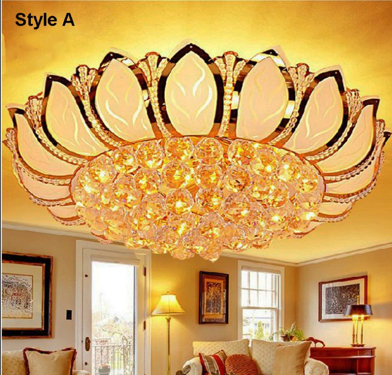 E14 Lotus Flower Modern Ceiling Light With Glass Lampshade Gold Ceiling Lamp for Living Room Bedroom lamparas de techo abajurE14 Lotus Flower Modern Ceiling Light With Glass Lampshade Gold Ceiling Lamp for Living Room Bedroom lamparas de techo abajur