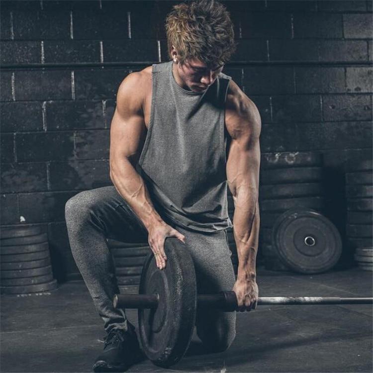 Brand Gyms Stringer Clothing Bodybuilding Tank Top Men Fitness Singlet Sleeveless Shirt Solid Cotton Muscle Vest Undershirt 21