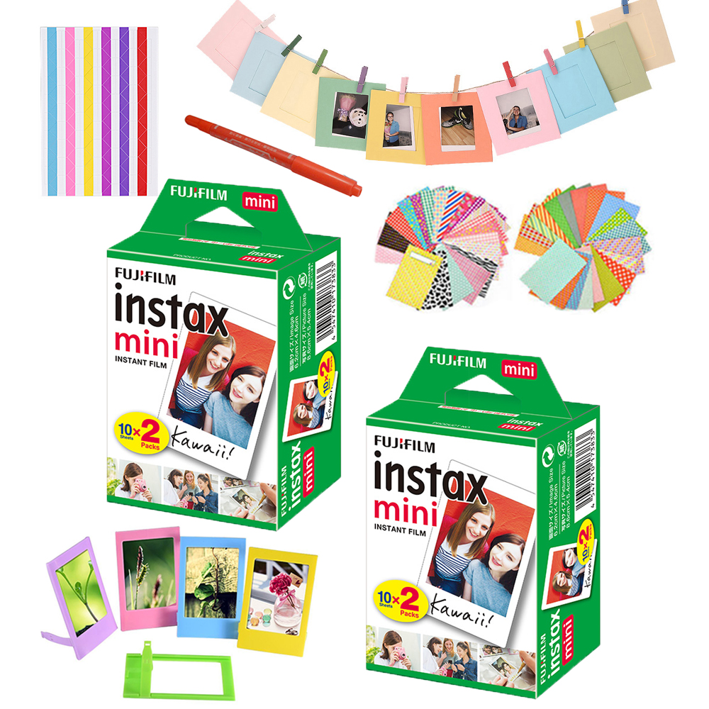 For Fujifilm Instax Mini 8 9 White Film 40 Shots Sheets Mini 25 50 70 90