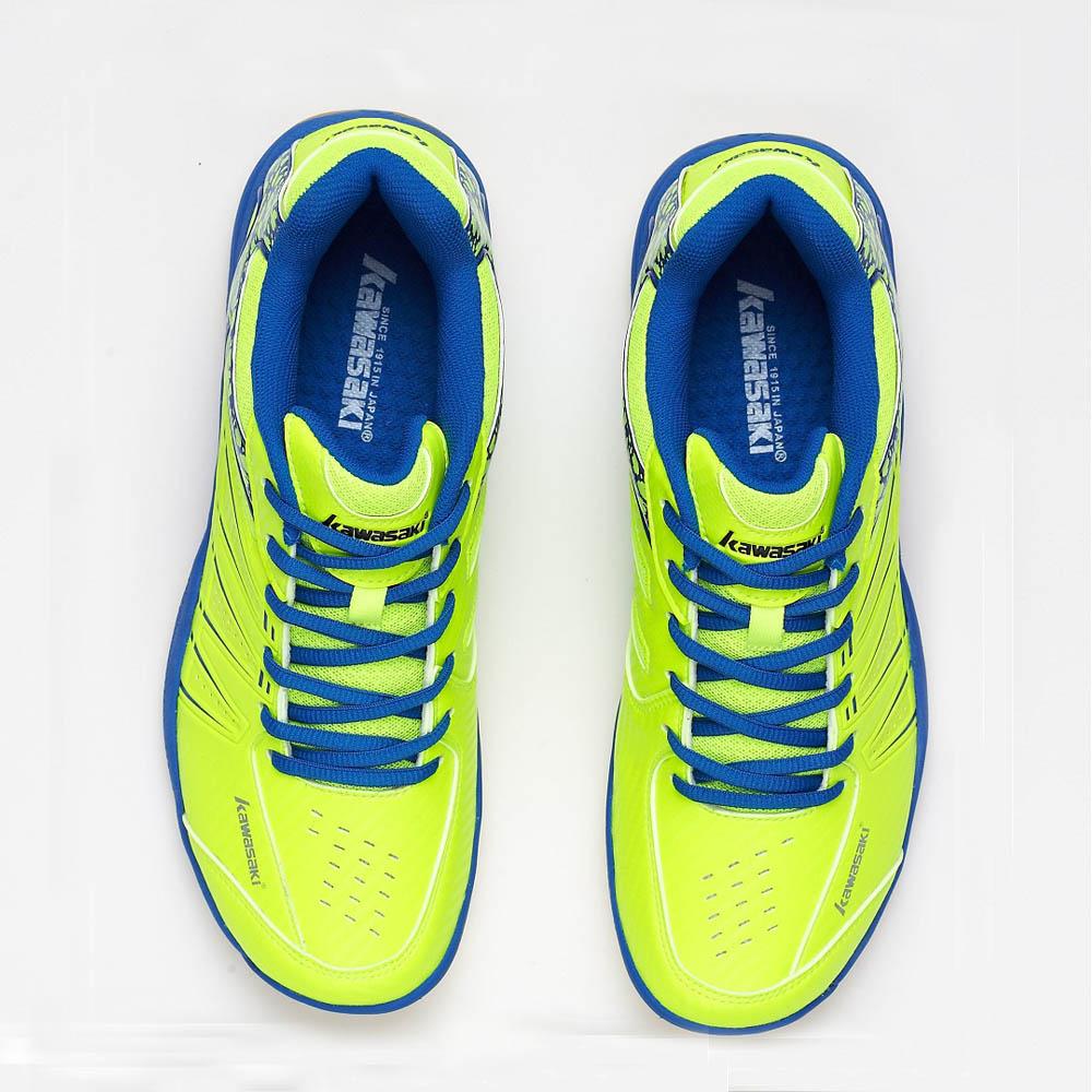 KAWASAKI Merek Profesional Sepatu Bulutangkis Hijau Lace Up Sneakers - Sepatu kets - Foto 4