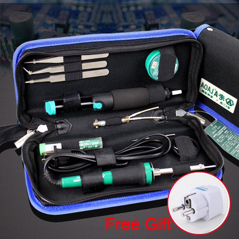 LAOA 11 in 1 Electric Soldering Iron 30W Soldering Iron Circuit board maintenance tools Free Gift Europe adapter plug assisted soldering tools sa 10 6pcs maintenance tools to disassemble and clean the board brush hook to push fork cones