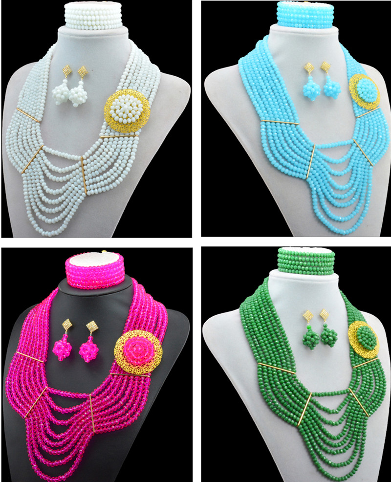 Latest design African Nigerian Indian quality crytal beads ...