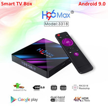 Smart TV Box Android 9.0 H96 MAX RK3328 WIFI 4G 32G H.265 Google Play Youtube Set Top Boxes IPTV Mini Smart Box Canada French android 7 1 smart tv box rk3328 4g 32g ricevitore tv 4 k 2160 p 3d wifi media player play store netflix youtube iptv set top box