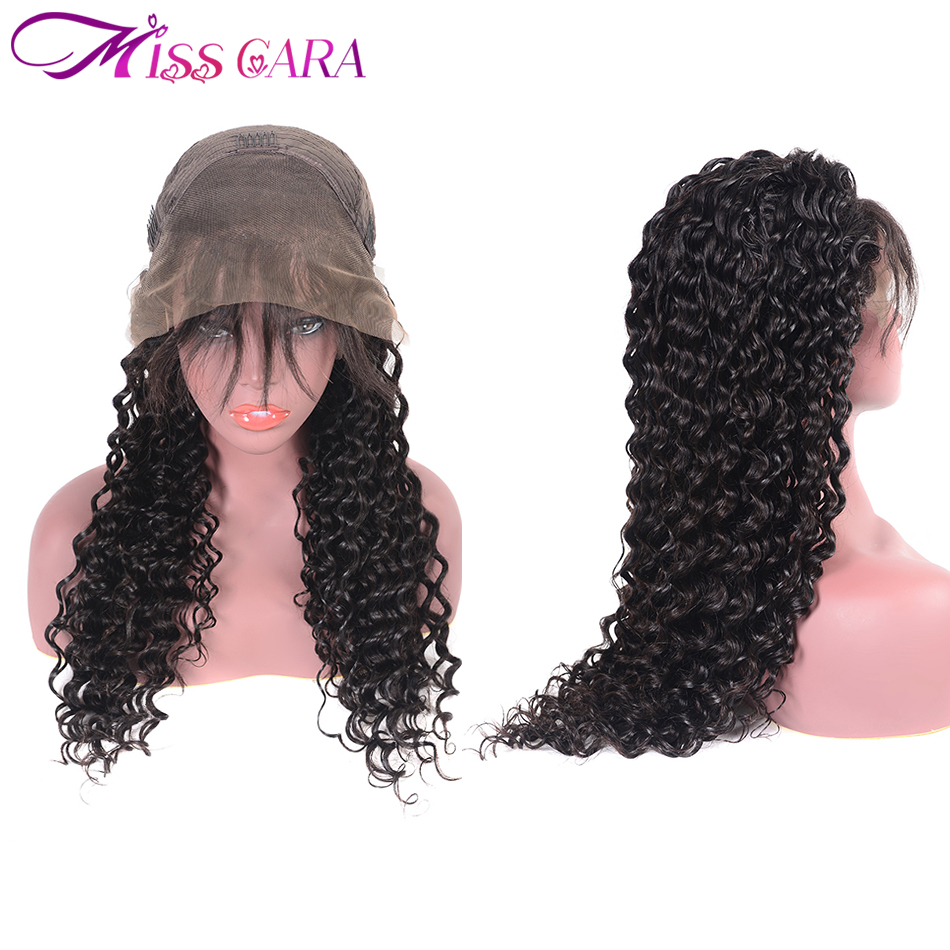 Lace Front Human Hair Wigs 150 Remy Brazilian Deep Wave Pre plucked Lace Wigs With Baby