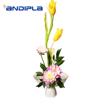 Modern Flower Pot Ceramic High Plate Flower Arrangement Vase / Table Bonsai Hydroponics Plant Holder Decor / Home Fruit Plate
