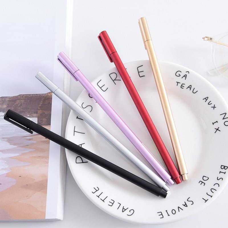 0 5mm simple Plastic Gel Pen Creative Cute Kawaii Pens For Kids Novely Item School Supplies Free Shipping in Gel Pens from Office School Supplies