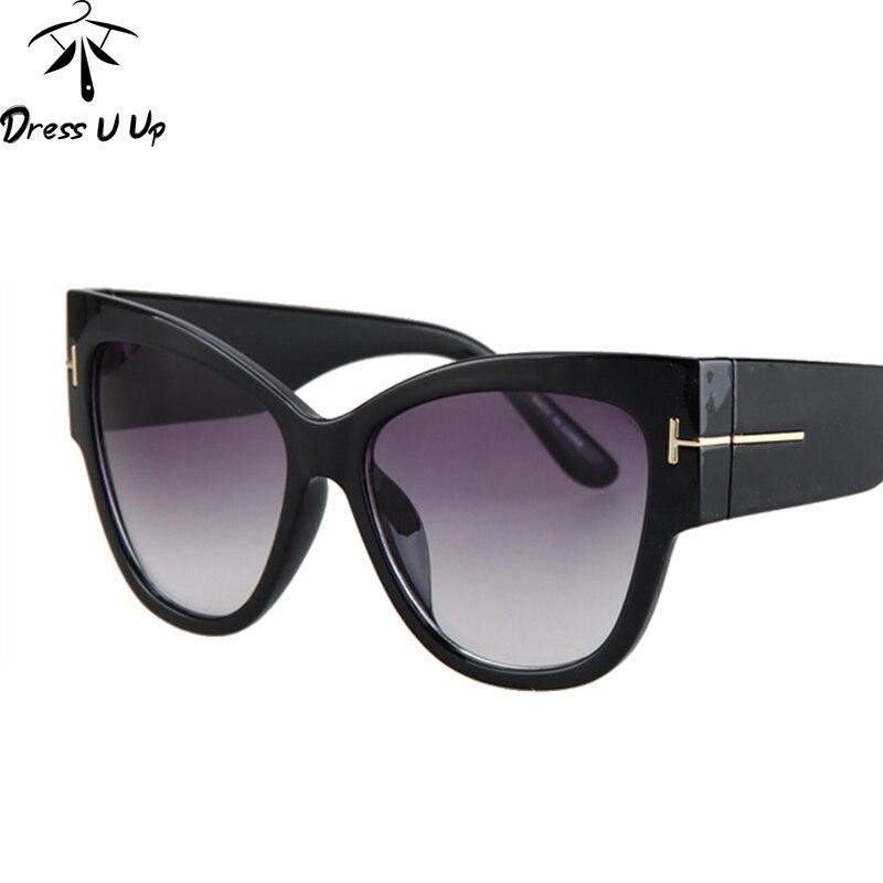 2598aefac6d16 DRESSUUP New Cat Eye lunettes de Soleil Femmes Marque Designer Vintage  Grain de bois Grand Cadre Lunettes de Soleil Oculos De Sol Feminino dans  Lunettes de ...