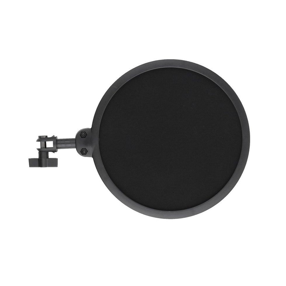 5PCS Black Plastic Microphone Shock Mount Stand Holder with Integrated Pop Filter Kit недорго, оригинальная цена