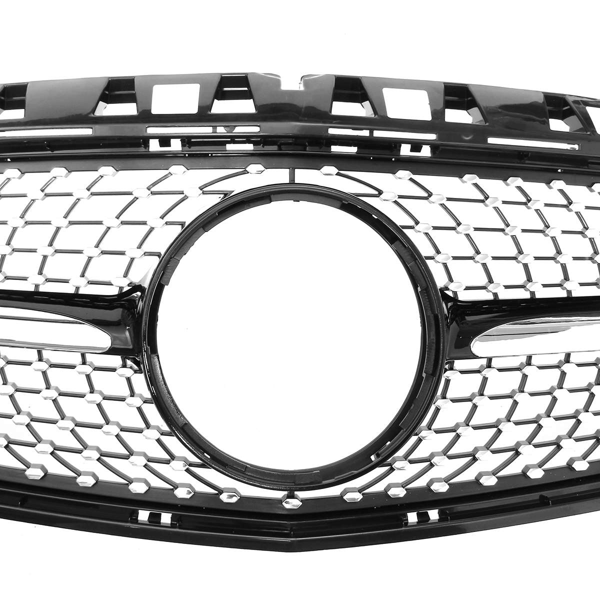 W176 A200 A250 Алмазный гриль сетка Стиль автомобиля Передняя решетка гриль для Mercedes Benz W176 A200 A250 A45 Для AMG 2013 2014 2015 - 5