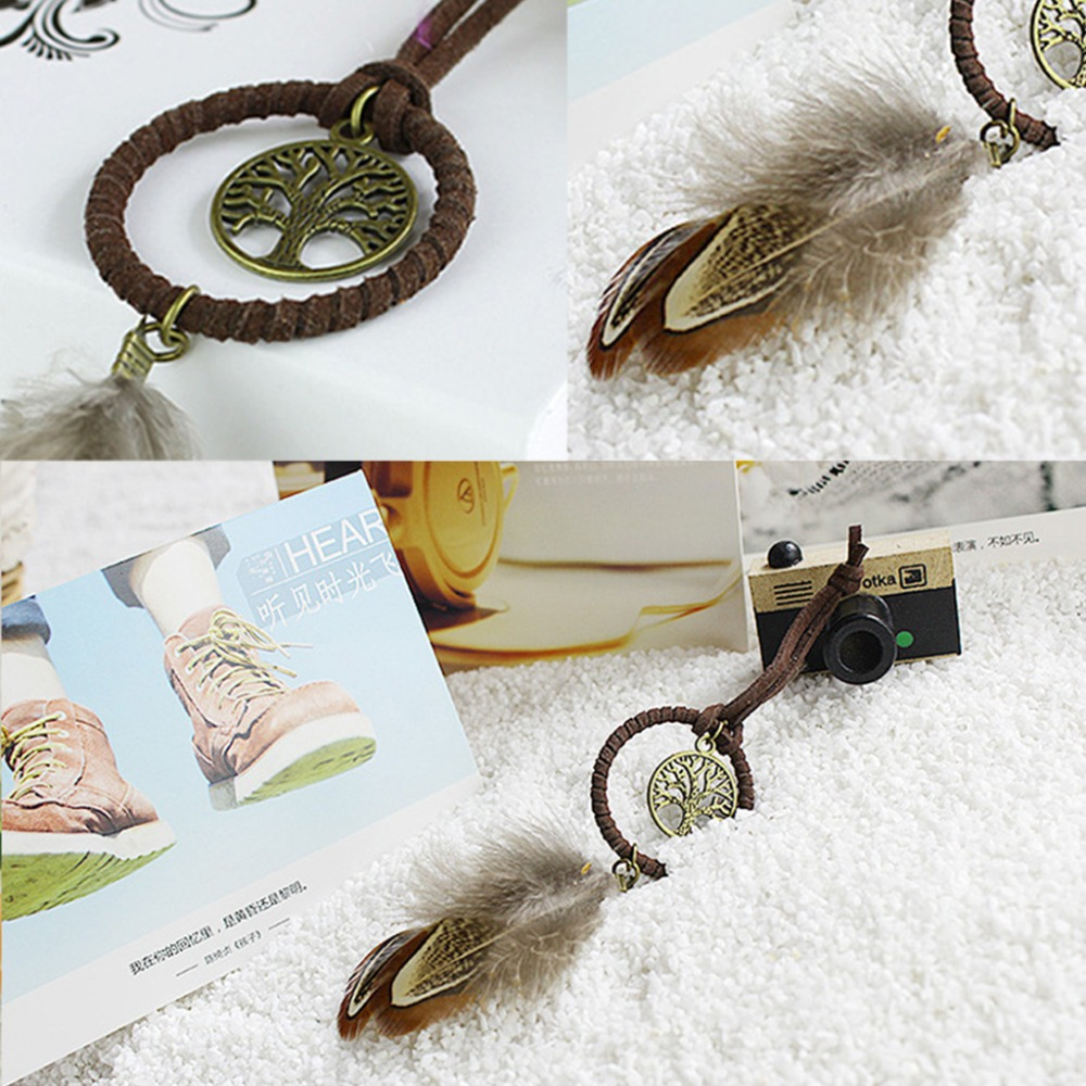 Feather Tassels Dreamcatcher Dream Catcher Pendant Keyring Key Chain Keychain
