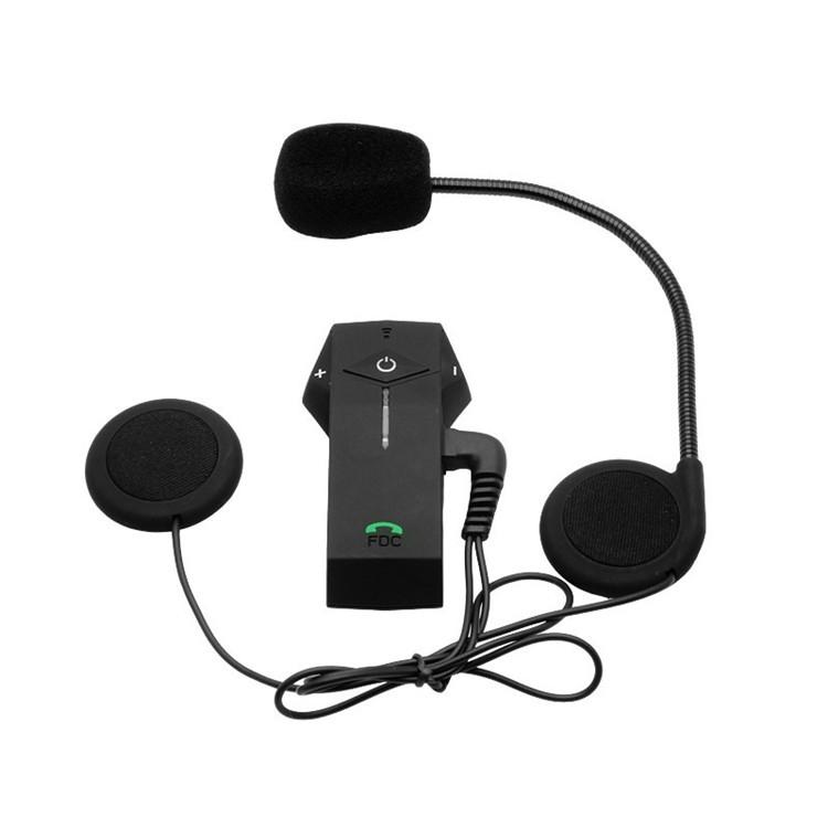 Bluetooth Motorcycle Helmet Intercom Support NFC BT Moto Interphone  Hand-free Headsets Intercomunicador with FM Radio for Skiing (18)