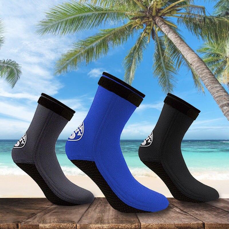 De neopreno de 3mm surf snorkel Calcetines de las mujeres de los hombres de Playa nadar traje evitar cero caliente buceo pesca submarina calcetín